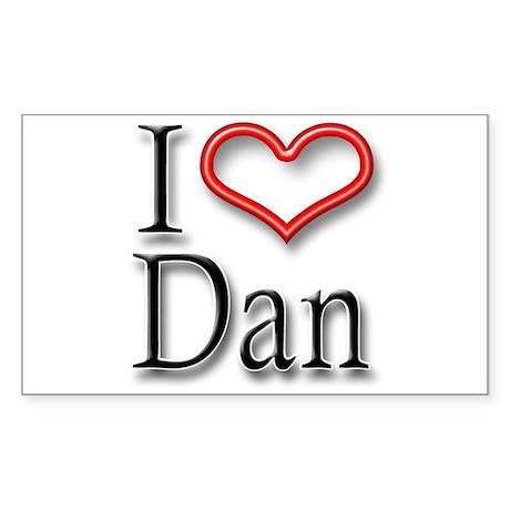 I Heart Dan Rectangle Sticker