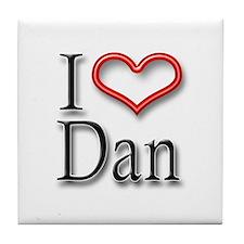 I Heart Dan Tile Coaster