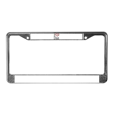 I Heart Dan License Plate Frame