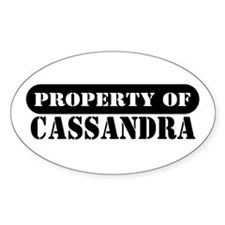 Property of Cassandra Oval Decal