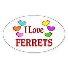 I Love Ferrets Decal