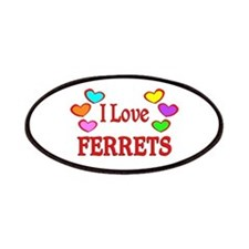 I Love Ferrets Patches