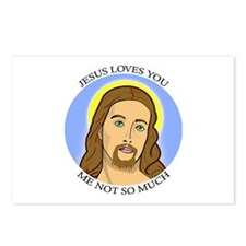 Jesus Loves You, Me Not So Much Postcards (Package
