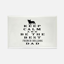 Keep Calm French Bulldog Designs Rectangle Magnet