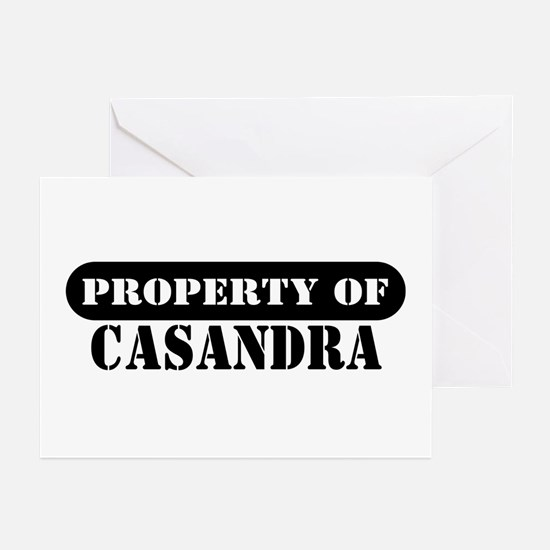 Property of Casandra Greeting Cards (Pk of 10)