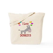 I Love Donkeys Tote Bag