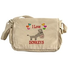 I Love Donkeys Messenger Bag