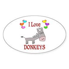 I Love Donkeys Decal