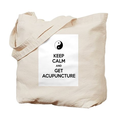 Keep Calm Get Acupuncture Tote Bag