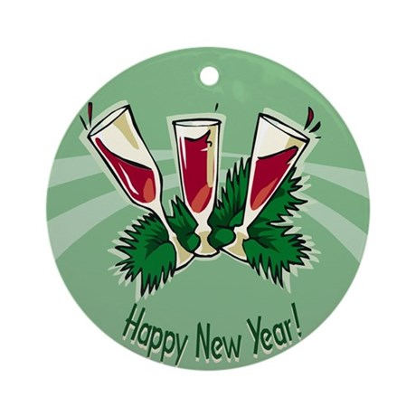 HAPPY NEW YEARS EVE PARTY ORNAMENT (Round)