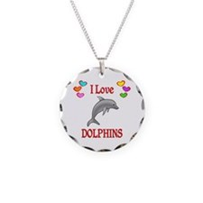 I Love Dolphins Necklace