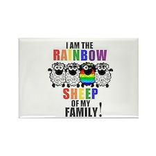 Rainbow Family Sheep Rectangle Magnet