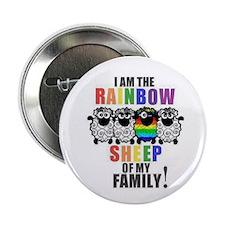 "Rainbow Family Sheep 2.25"" Button"