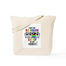 Rainbow Family Sheep Tote Bag