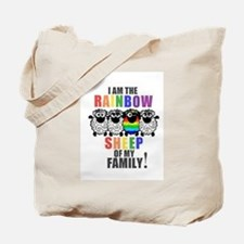 Rainbow Family Sheep Tote Bag