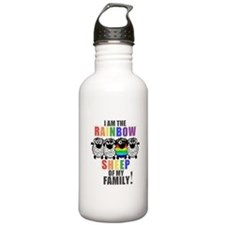Rainbow Family Sheep Water Bottle
