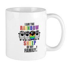Rainbow Family Sheep Mug