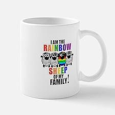 Rainbow Family Sheep Small Small Mug