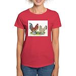 Blue Mille Fleur d'Uccles Women's Dark T-Shirt