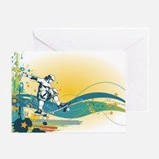 skater sk8er skateboarder mod vector Greeting Card