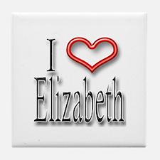 I Heart Elizabeth Tile Coaster