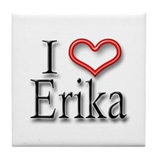 I Heart Erika Tile Coaster