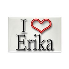 I Heart Erika Rectangle Magnet