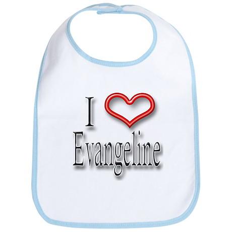 I Heart Evangeline Bib