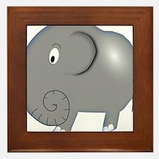 Balloon Grey Elephant Framed Tile