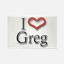 I Heart Greg Rectangle Magnet