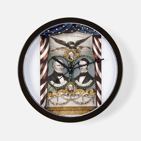 Grand, national, Whig banner - 1852 Wall Clock