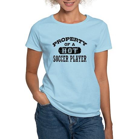 Property of a Hot Soccer Player Women's Light T-Sh
