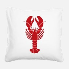 Lobster Square Canvas Pillow