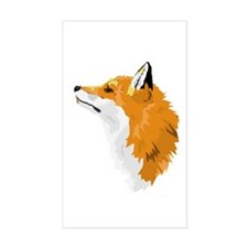 Fox Profile Rectangular Decal