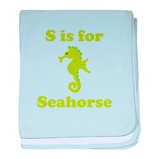 S Is For Seahorse baby blanket