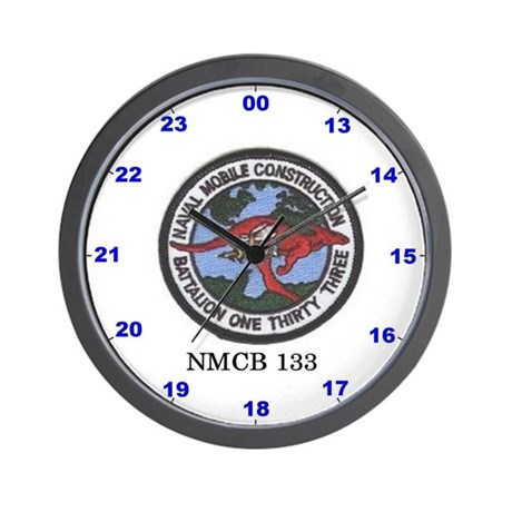 Wall Clock With NMCB 133 Logo