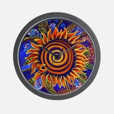 Spinning Sunflower Wall Clock