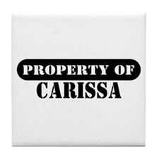 Property of Carissa Tile Coaster