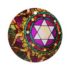 Stained Glass Round Ornament