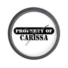 Property of Carissa Wall Clock
