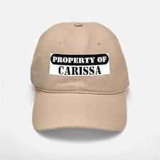 Property of Carissa Baseball Baseball Cap
