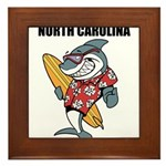 North Carolina Framed Tile