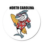 North Carolina Round Car Magnet