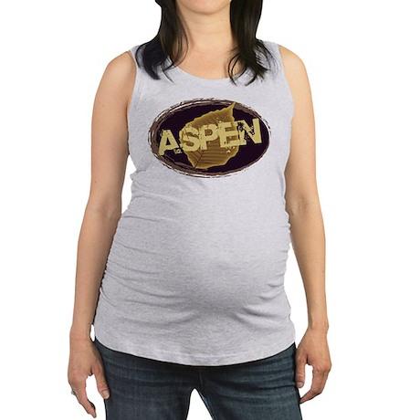 Aspen Leaf Logo Coffee.png Maternity Tank Top