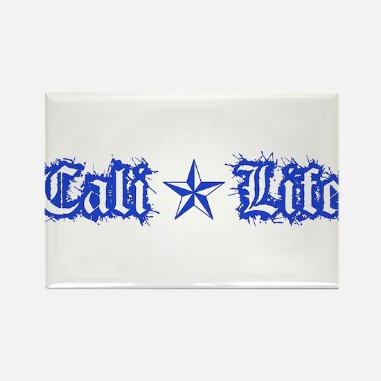 cali life 1a blue Rectangle Magnet