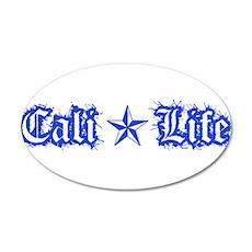 cali life 1a blue Wall Decal