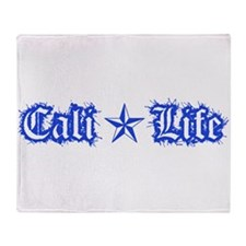 cali life 1a blue Throw Blanket
