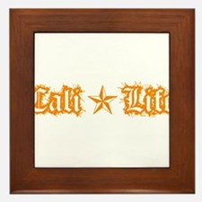 cali life 1a orange Framed Tile