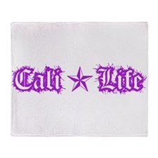 cali life 1a purple Throw Blanket