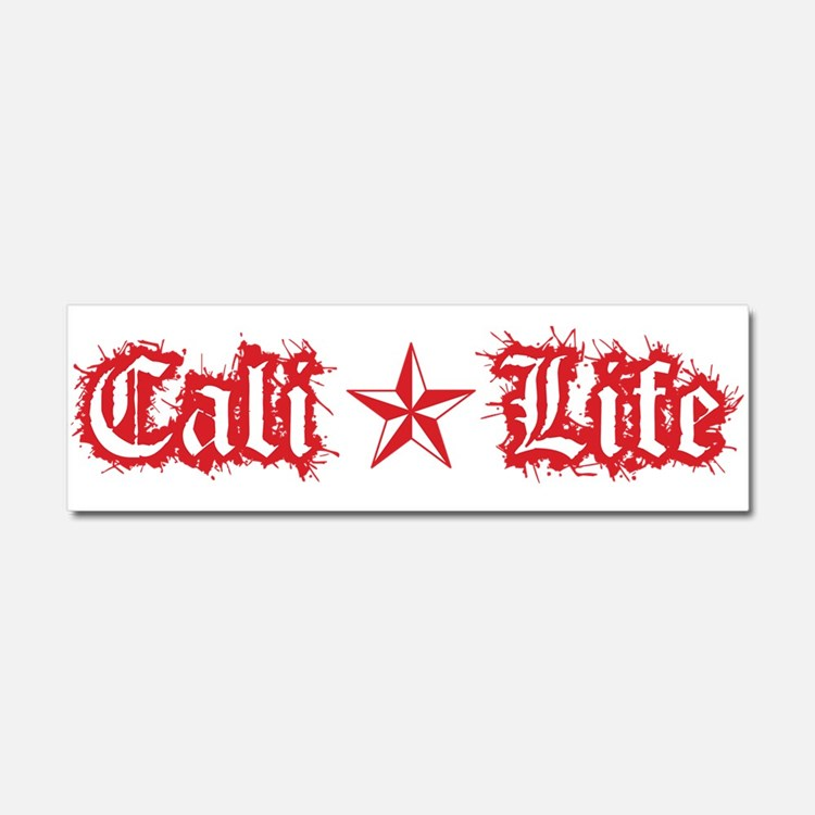cali life 1a red Car Magnet 10 x 3